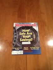 Newsweek Magazine How Safe are Your Savings? March 15 1982 Gun Control