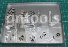 Job Lot Of 50pc Engineers HSS Drill Bits Garage Tools Craft Model Jewelers Maker