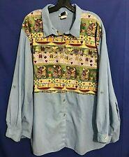 TAPESTRY Lightweight Cotton Blend Button-Up Shirt/Top BEST FRIENDS Multicolor 4X