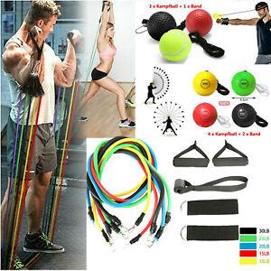 Widerstandsbänder Boxen Training Ball Gymnastikband Fitnessbänder Expander Set
