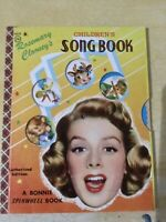 Rosemary Clooney's. Children's Songbook,Bonnie Spinwheel Book, 1st Ed 1956