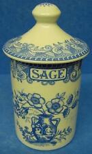 SPODE Blue Room SAGE spezie o erbe JAR Portland modello vaso con coperchio di corrispondenza