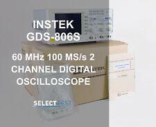 Instek Gds 806s 60 Mhz 100 Mss 2 Ch Digital Oscilloscope Look Ref 572g