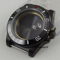 New 40mm Sapphire Glass Black PVD Coated Watch Case Fit NH35 NH35A NH36 Movement
