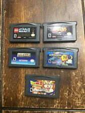 Gameboy Advance Lot Of 5: 2 Star Wars, 2 Pacman, Dragonball Z Perfectly Working