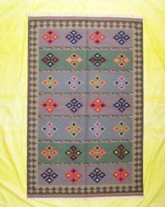Hand Woven Décor Wool Rug Turkish Kilim Dhurrie 5x8 Afghan Area Rug Decorative