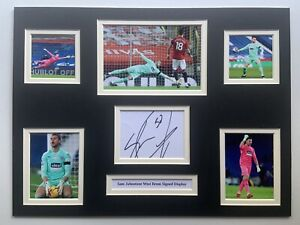 """West Bromwich Albion Sam Johnstone Signed 16"""" X 12"""" Double Mounted Display"""