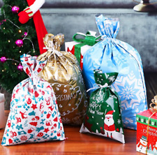 30PCS Christmas Gift Bags Assorted Styles Drawstring Gift Wrapping Christmas