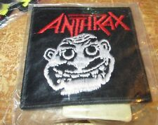 ANTHRAX COLLECTIBLE RARE VINTAGE PATCH EMBROIDED 90'S METAL LIVE NOTMAN ORIGINAL