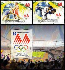 MACEDONIA 2016 Olympic Games Rio, Brazil, MNH BLOCK + SET OF 2 JUDO WRESTLING