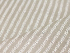 Brook Perdigon Textiles Handprinted Stripe Belgian Linen Fabric Path Chalk 5.4yd