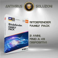 Bitdefender Family Pack 2020 2 Anni, Fino a 49 Dispositivi (Account Centrale )