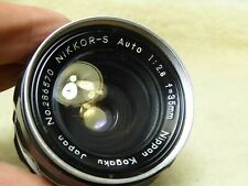 Nippon Kogaku NIKKOR-S Auto f2. 8 35mm  ai lens nikon  used condition