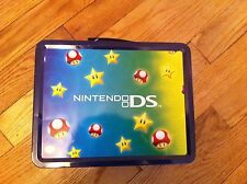 Nintendo DS metal lunchbox Mushroom Characters Storage container colectible used