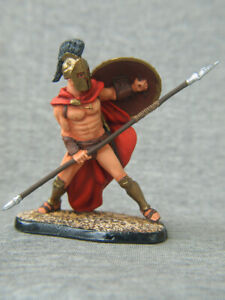 King Leonidas. Collectible painting tin soldiers SCALE 1/32 54 mm
