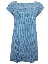 Seasalt ladies tunic blouse top size 10 Ethy Rock tunic cotton blue white stripe