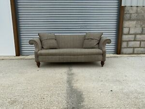 Tetrad Bowmore Harris Tweed Midi Sofa Upholstered in Loden Herringbone