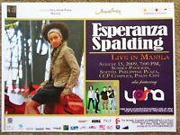 ESPERANZA SPALDING 2009 Gig POSTER Philippines Concert