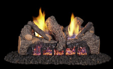 "Real Fyre Foothill Oak Vent Free Gas Log 18"" Propane Remote Control"