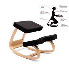 Ergonomica sedia inginocchiata Nero sgabello in ginocchio correzione spinale