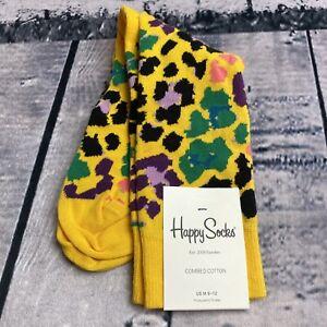 Women's Leopard Cheetah Animal Print Ankle Low Cut Socks Size 9-11 Orange