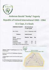 AMBROSE FOGARTY EIRE INTERNATIONAL 1960-1964 ORIGINAL HAND SIGNED CUTTING