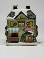 Ceramic Christmas Grocery store village/Town Building lighted 🇺🇸 RETAILER see