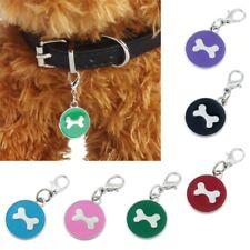 Dog collar Rhinestone Pendant Lovely Pets Fashion Popular Round Bone Puppy