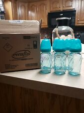 Evenflo Teal Classic Glass Nursers 6- 4oz bottles