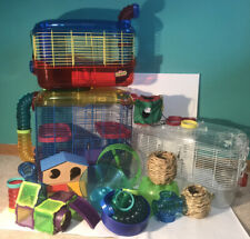 Hamster Cage Critter Trail 3 Lot Extra Tubes Hideouts Water Bottles Toy Hideouts