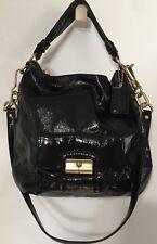 Coach Kristin Black Patent Leather Hobo Convertible Handbag J1076-16013