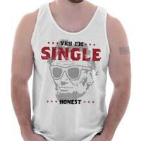 Single Honest Abe Lincoln Valentine Day Gift Idea Funny Cool Tank Top