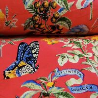 """45"""" Wide Butterfly Printed Light Weight Rayon Fabric Sewing Material By Metre"""