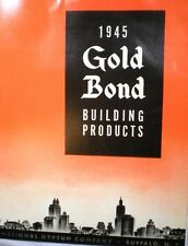 National Gypsum Gold Bond Catalog ASBESTOS Wallboard Buiding Products 1945
