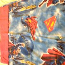 Superman DC Comics Blue Red 1978 Twin Fitted Sheet Fabric Sewing Crafts Vintage