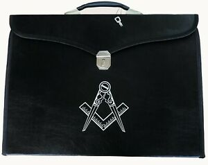 Masonic regalia master mason Provincial Apron & Chain Collar case/bag & compass