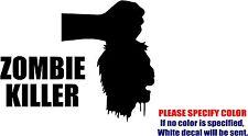 "Zombie Killer Head Graphic Die Cut decal sticker Car Truck Boat Window 7"""
