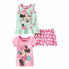 Minnie Mouse Glitter Top & Shorts 3 Piece Set  24 months NWT Baby Girl Disney