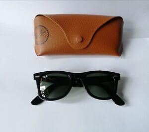 Ray ban 47mm small size piccoli wayfarer 2140-901 black sunglasses occhiali sole