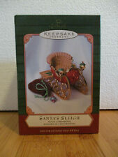 Hallmark Santa's Sleigh w/Toy Sack Ornament Mib 2001