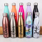 Personalised Water Bottle Stainless Steel Vacuum Insulated Chilly Flask 500ml