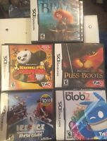 Lot Of 5 DS Kids Games  & All Sealed! Brave,Puss In Boots,Ice Age 2++