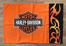 HARLEY DAVIDSON Motor Cycles Black Orange Standard Size Pillowcase NWOT!