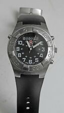 Swiss Army 100 Meters Diving Watch Date Timer Depth Gage's In Great Shape!