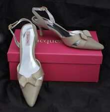 NEW Jacques Vert Beige Slingbacks with Kitten Heel Size 4/37
