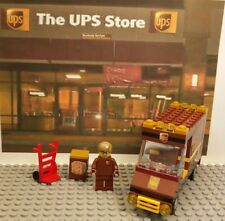 LEGO Great Vehicles UPS TRUCK. BOX. HAND TRUCK & Minifigure. Ready to Play!