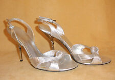 Georgio Armani Silver Metallic Evening High Heel Shoes - Size 36 or 6 US