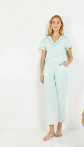 Laurence Tavernier Pajamas S 7/8 Trousers, Mint 100% Cotton