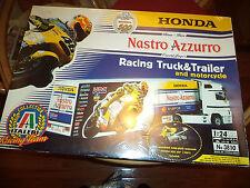 ITALERI 1/24 HONDA RACING TEAM TRUCK,TRAILER AND MOTORCYCLE KIT,2001,NIB.