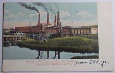 1906 Postcard Worcester Salt Factory Silver Springs New York